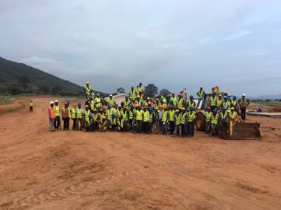 23rd September 2014 Dodowa Site Construction Team