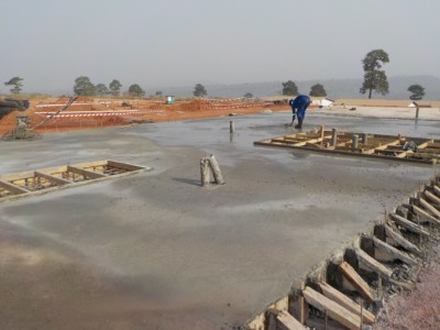 11th February 2016 Kumawu Hospital Concrete Pour
