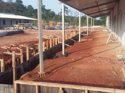 14th April 2016 Kumawu Hospital Veranda Formwork