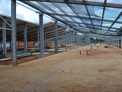12th October 2014 Dodowa Main Building - View Inside Steel Framework