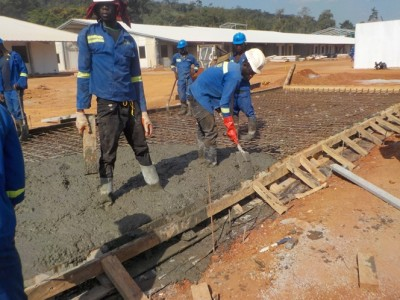 3rd December 2015 Kumawu Hospital Ward Building Foundations