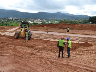 15th October Fomena Hospital Site Levelling Works