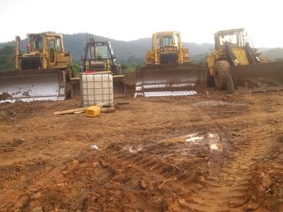 24th August 2014 Fomena Site Bulldozers