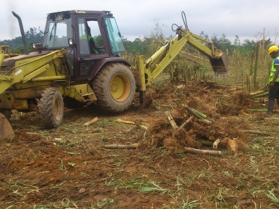 25th August 2014 Fomena Site Clearance