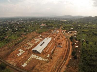12th December 2014 Dodowa Hospital Site Layout Progress