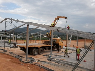 5th December 2014 Fomena Hospital Steelwork Going Up