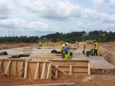 31st October 2014 Fomena Hospital Site Foundations Works