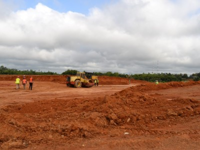 15th October 2014 Fomena Site Levelling Works