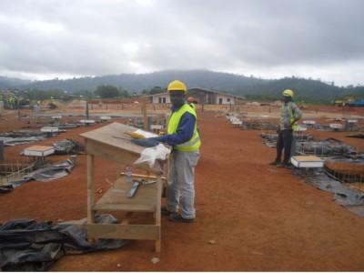 21st February 2015 Fomena Site foundation Works