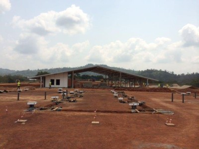 31st January 2015 Fomena Hospital Site Foundation Works