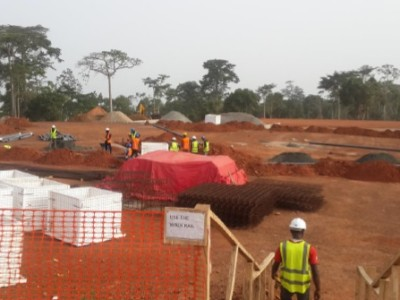 15th April 2015 Abetifi Hospital Site Setting Out