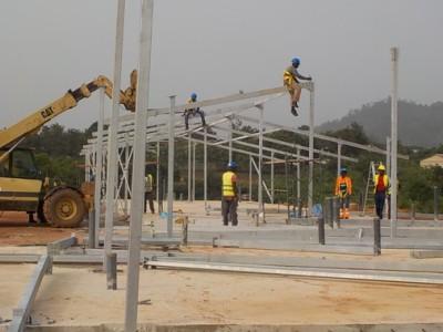 13th April Fomena Hospital Steel Frame for a Ward
