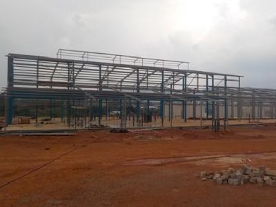 30th March Fomena Hospital Main Building Steel Frame