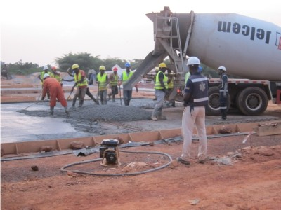 4th March 2015 Fomena Hospital Site Laying Foundations