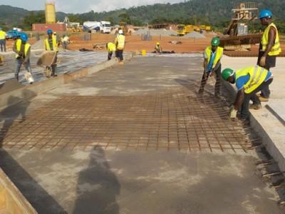 7th May 2015 Fomena Hospital Concrete Slab