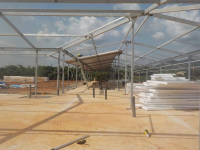 8th May 2015 Fomena Hospital Ward's Roof Going Up