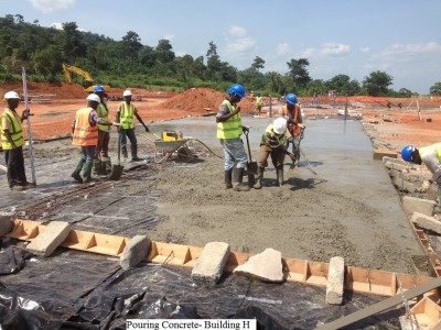 13th May 2015 Kumawu Hospital Pouring Concrete Base