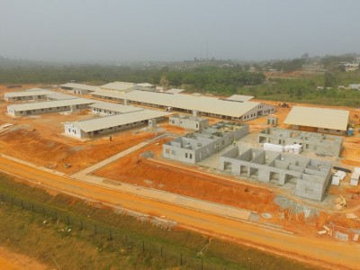 2nd February 2016 Fomena Hospital Aerial Photo