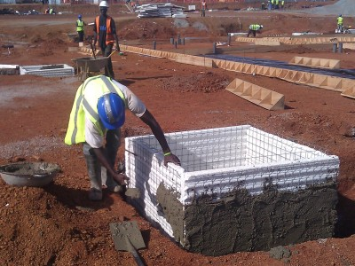27th May 2015 Abetifi Hospital Constructing Manholes