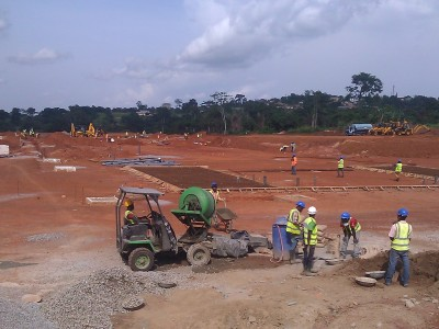27th May 2015 Abetifi Hospital Site Layout Preparation Work