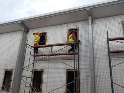 1st June 2015 Fomena Hospital Cutting Windows for Main Building