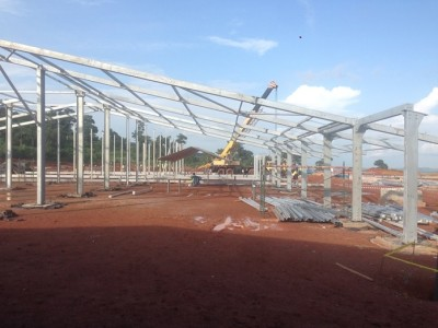 13th July 2015 Kumawu Hospital Steelwork