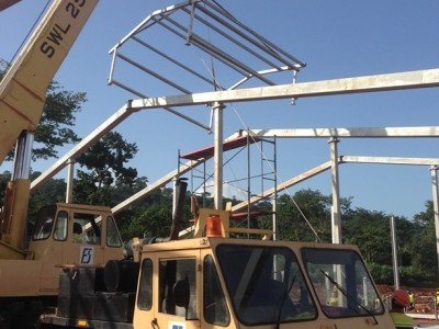 14th July 2015 Kumawu Hospital Steelwork