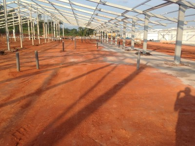 11th August 2015 Kumawu Hospital Main Building Steelwork