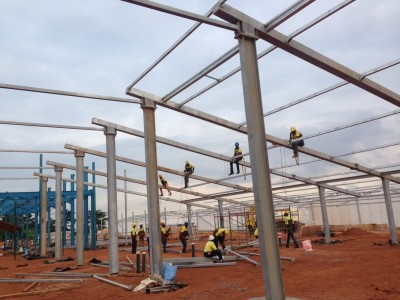 18th August 2015 Kumawu Hospital Main Building Steelwork