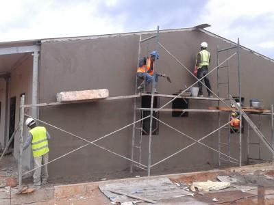 24th August 2015 Fomena Hospital Ward Building Plastering