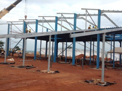 24th August 2015 Kumawu Hospital Main Building Steelwork and Roof