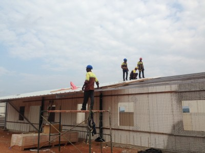 10th September 2015 Kumawu Hospital Ward Roof