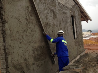 14th September 2015 Kumawu Hospital Wall Panel Plastering