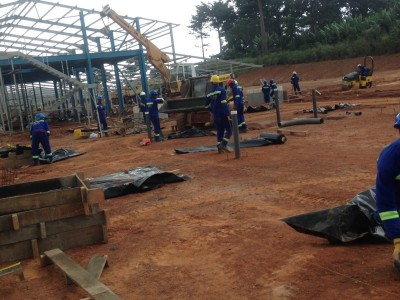 16th September 2015 Kumawu Hospital Steelwork and Foundations