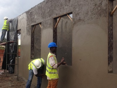 21st September 2015 Kumawu Hospital Wall Panel Plastering