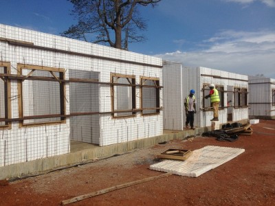22nd September 2015 Abetifi Hospital Staff Housing Window Frames