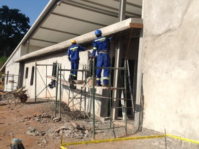 12th October 2015 Kumawu Hospital Wall Plastering
