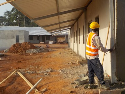12th November 2015 Kumawu Hospital Ward Walls Plastering