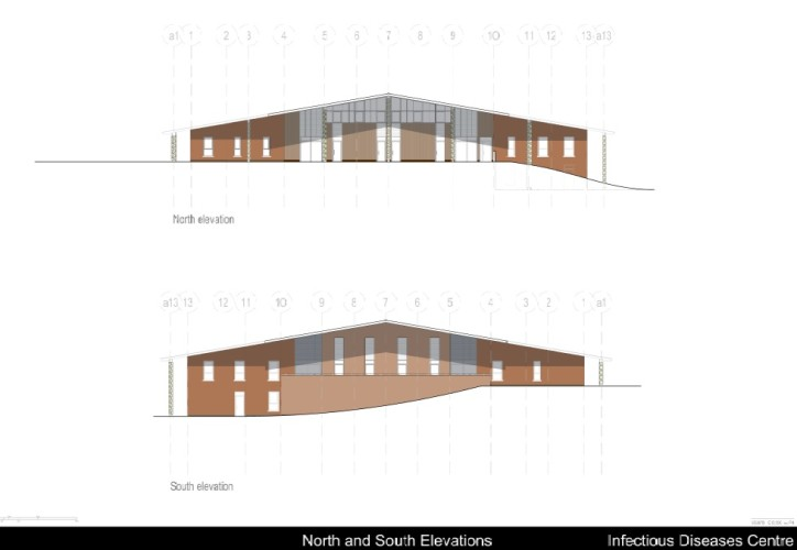 IDC North and South Elevations