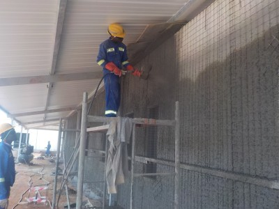 8th March 2016 Kumawu Hospital Ward Concrete Spraying