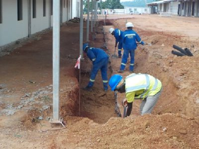 28th April 2016 - Kumawu Hospital Veranda Drains
