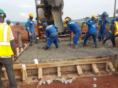17th June 2016 - Kumawu Hospital Concrete Pour